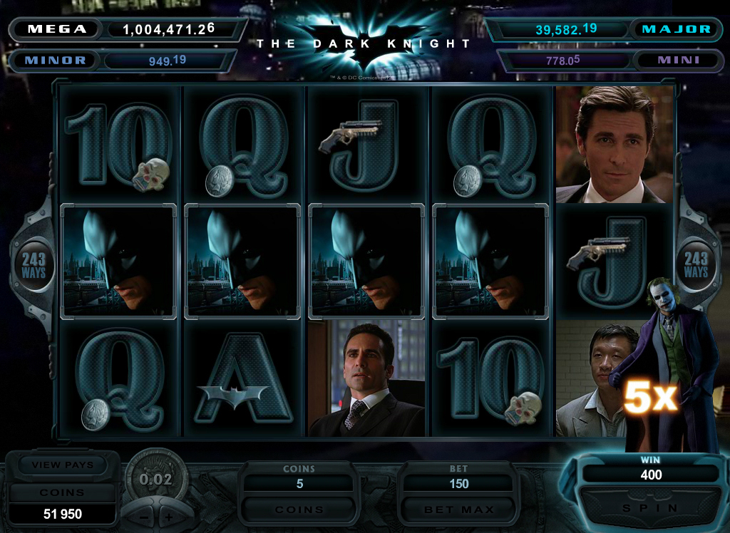 the dark knight video slot