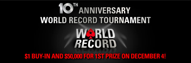 poker stars world record